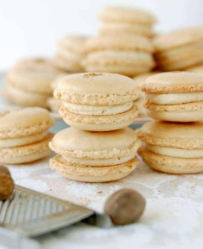 Eggnog Macarons Sundaysupper Baking Sense