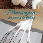 a pinterest image for baked meringue