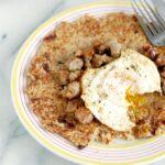 an oatmeal pancake
