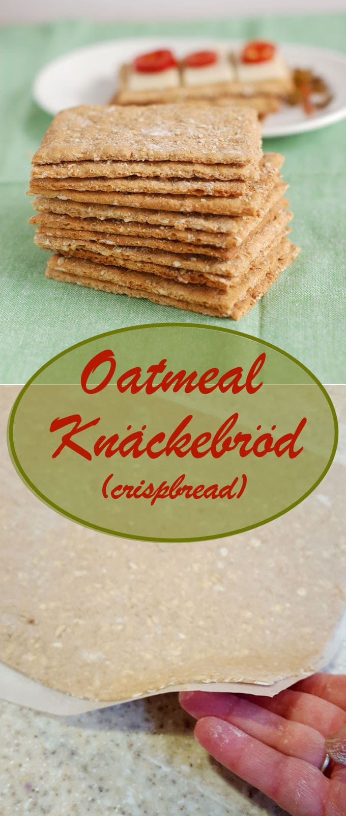 Homemade Oatmeal Knäckebröd (Crispbread) is unbelievably delicious, nutritious and surprisingly easy to make. #Breadbakers