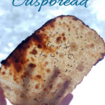 a pinterest image for sourdough rye crispbread