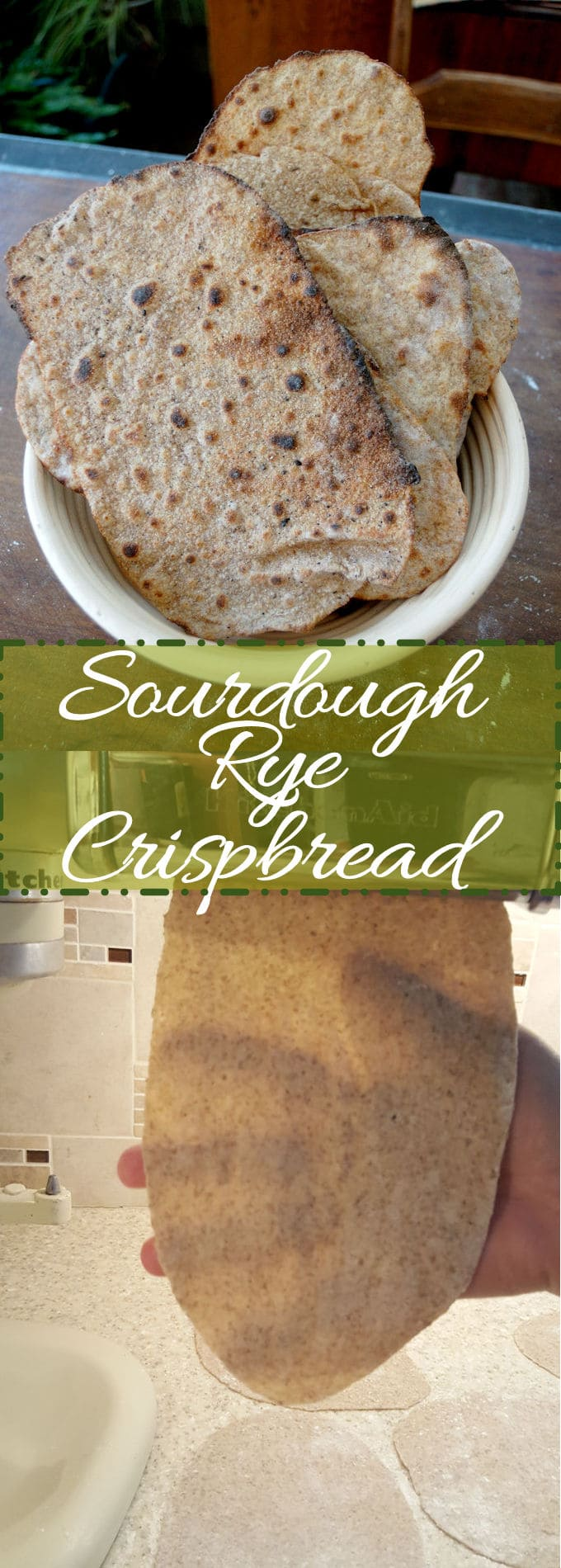 Sourdough rye crispbread is super thin, crispy and savory. Perfect for a snack or with a bowl of soup.