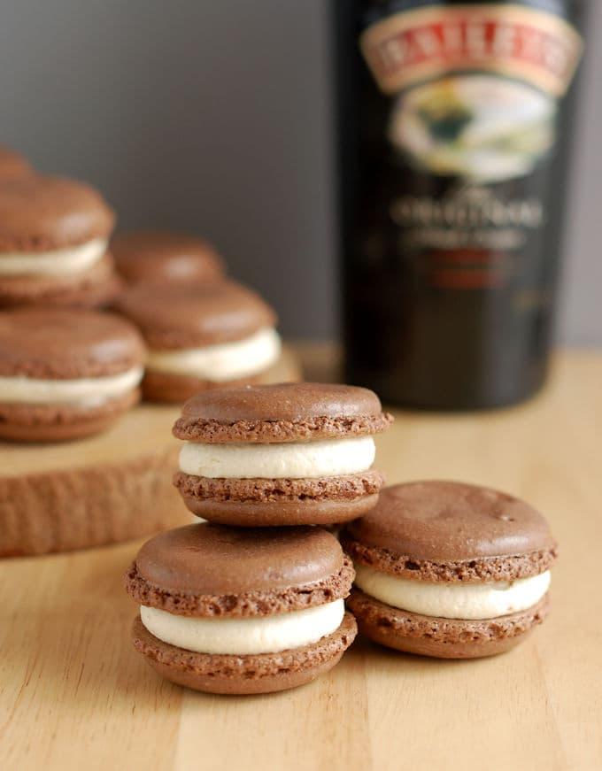 Baileys Chocolate Macarons