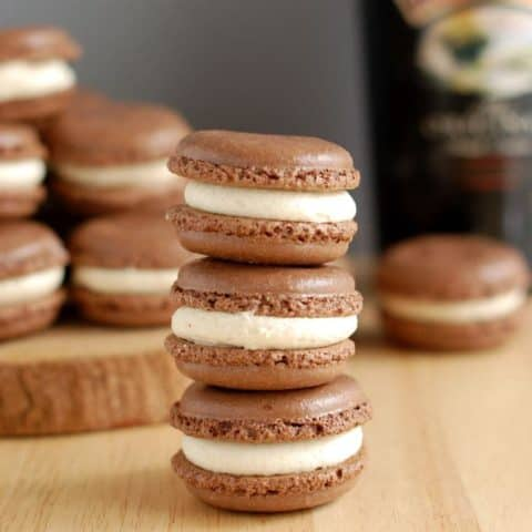 bailey's chocolate macaron