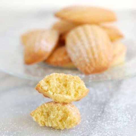brown butter almond madeleine