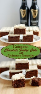 Is it a fudge cake or a cakey brownie? Easy to make, and so delicious. You'll love this rich chocolate Guinness cake cake topped with whipped white chocolate Guinness ganache.