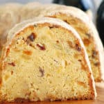 Triple Guinness Bundt Cake with raisins and almonds