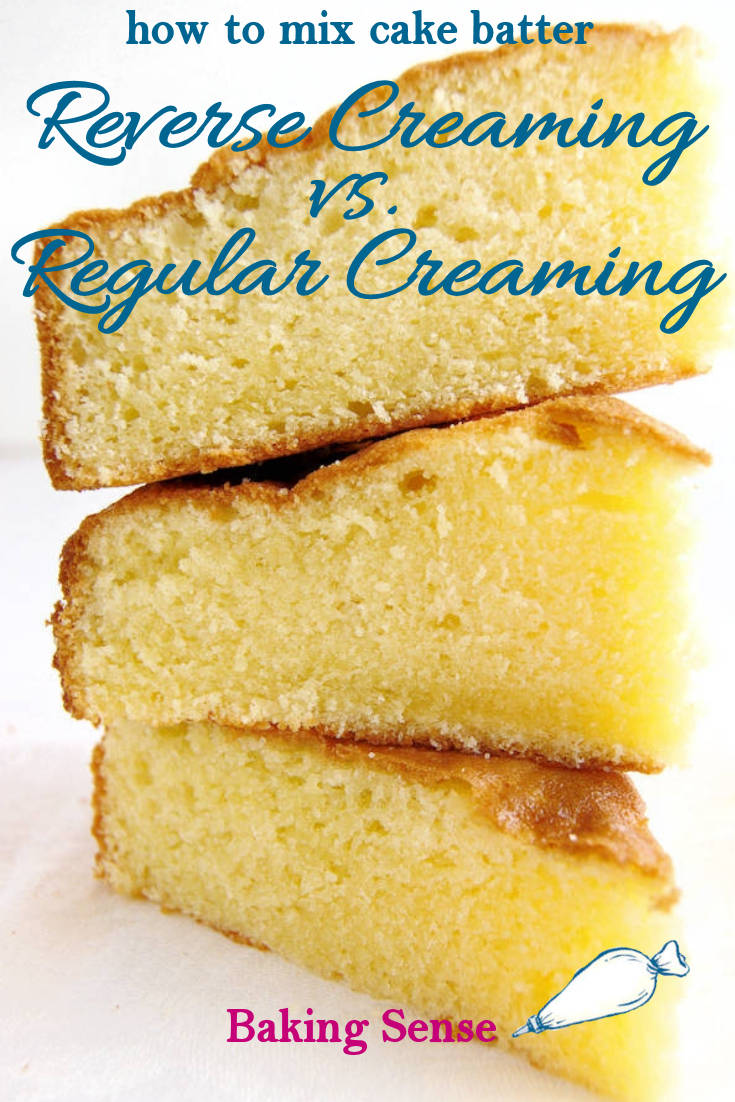 How you mix a cake batter can make a big difference. Learn about the reverse creaming technique and why you might change the way you've been mixing your cake batter. #creaming #reversecreaming #twostage