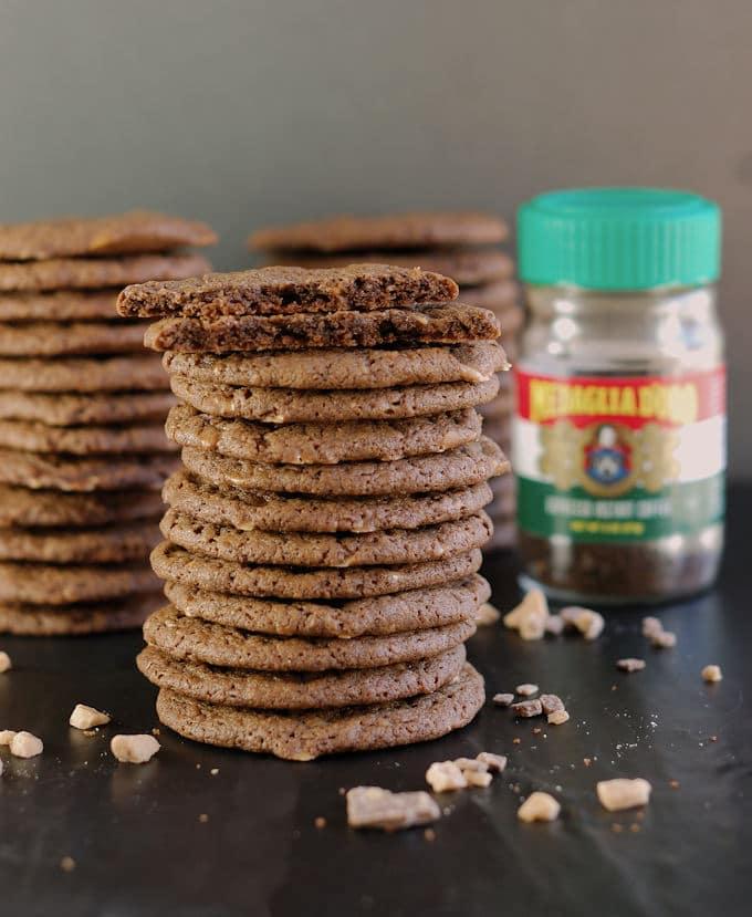 espresso heath chunk cookies