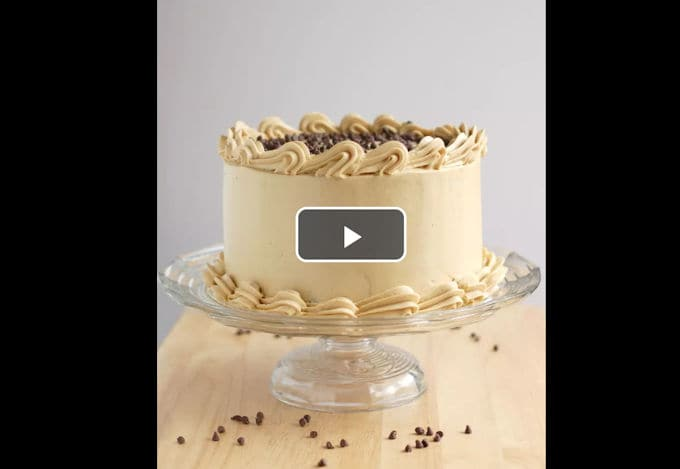 how to ice a cake video