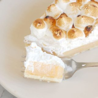 Pink Grapefruit Meringue Tart #SundaySupper