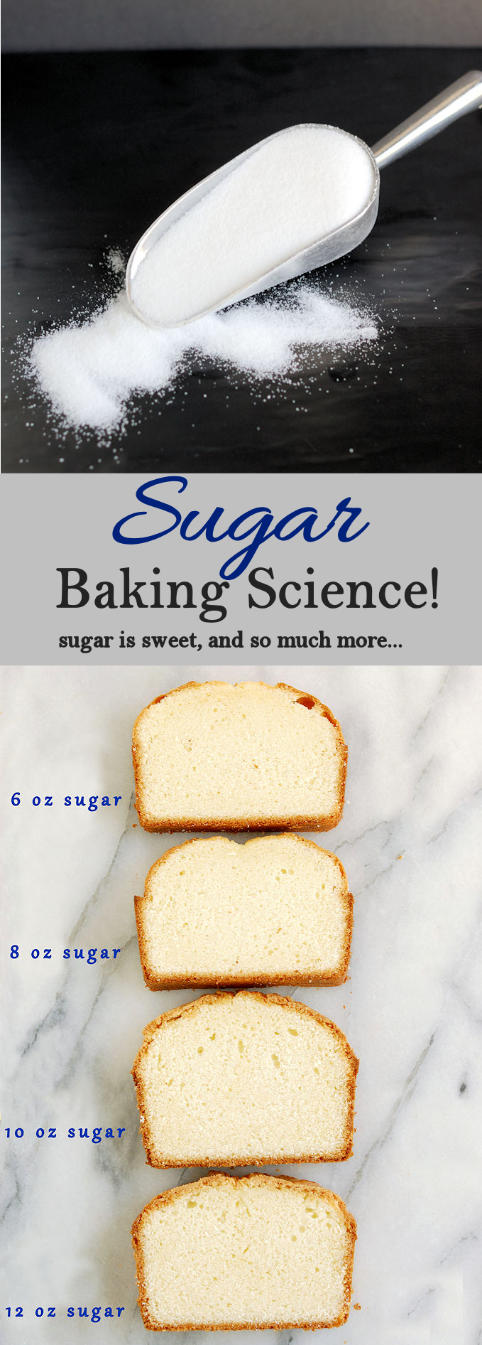 Sugar sweetens baked goods and also tenderizes. Learn the science of sugar: White vs. Brown, when to use honey and so much more.