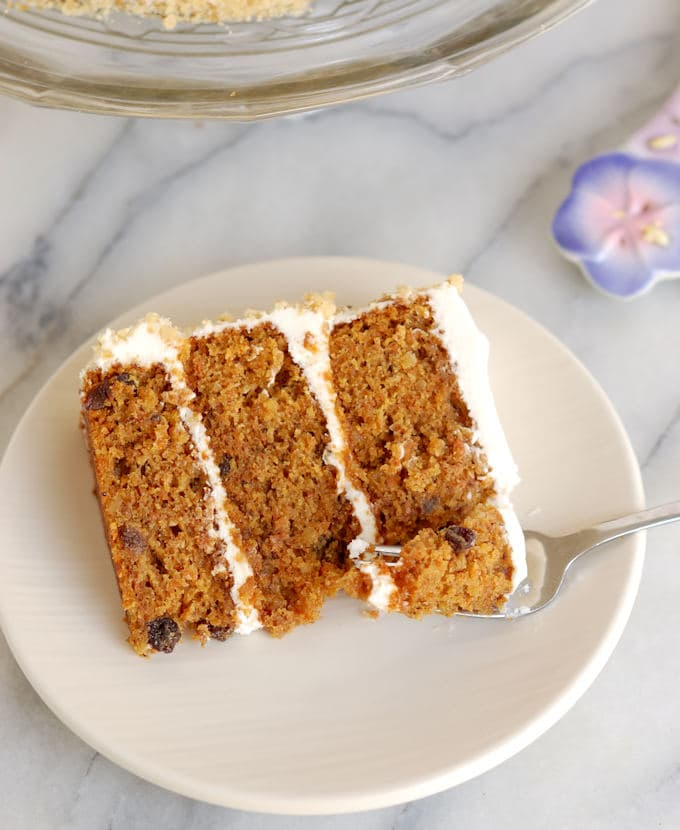 Better carrot cake with better cream cheese frosting.