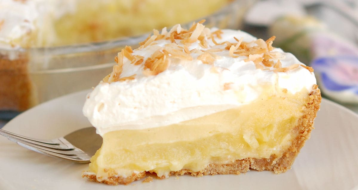 pina colada pie with rum