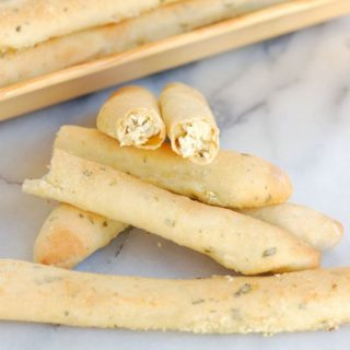 herbed goat cheese stuffed breadsticks