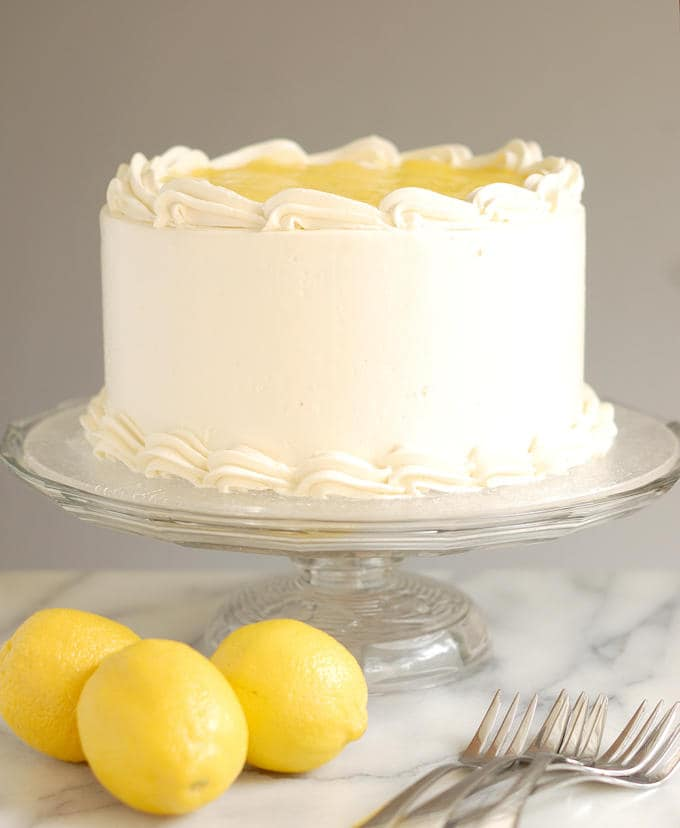 luscious lemon mousse cake 2