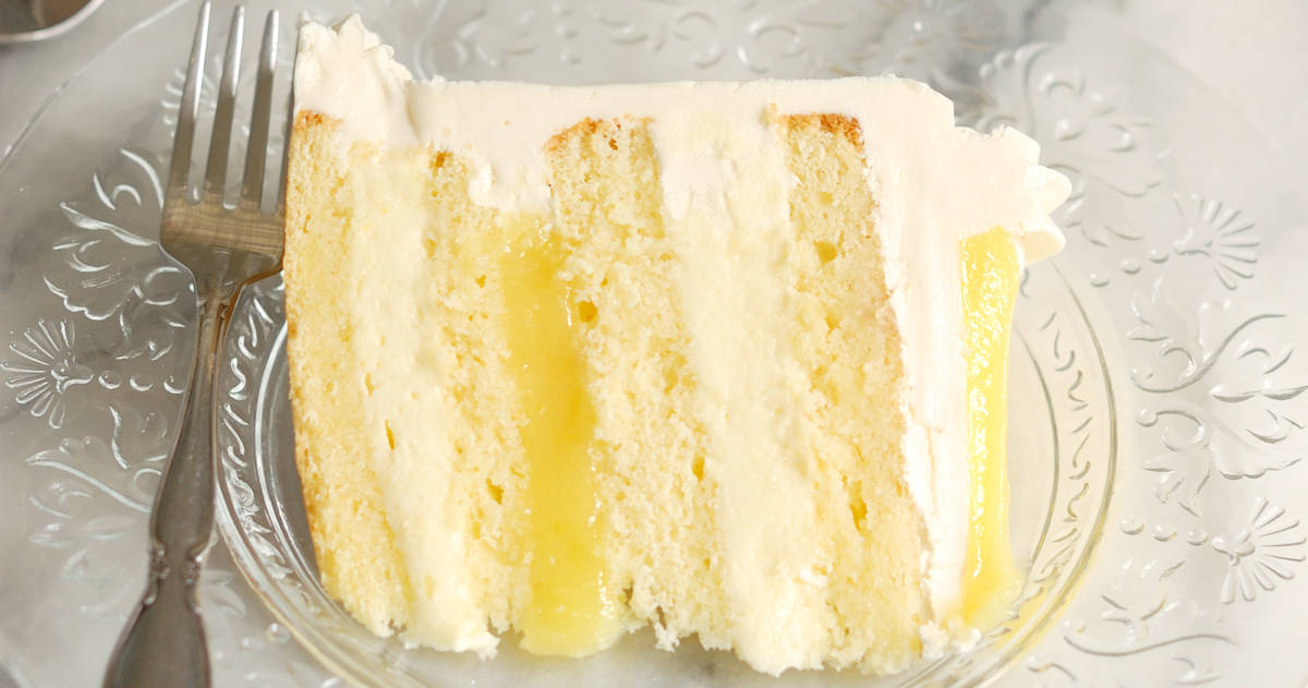 Luscious Lemon Mousse Cake - Layer cake perfection - Baking Sense on