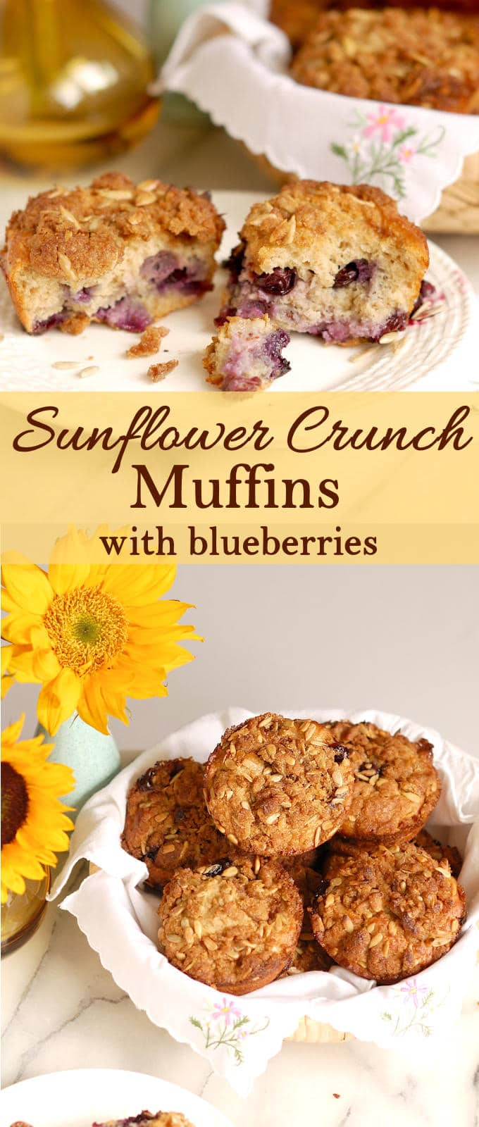 Have you ever baked with sunflower flour? Try it! Sunflower Crumb Muffins are moist and flavorful. Sunflower flour adds richness and great flavor to these yummy bites. #Breadbakers