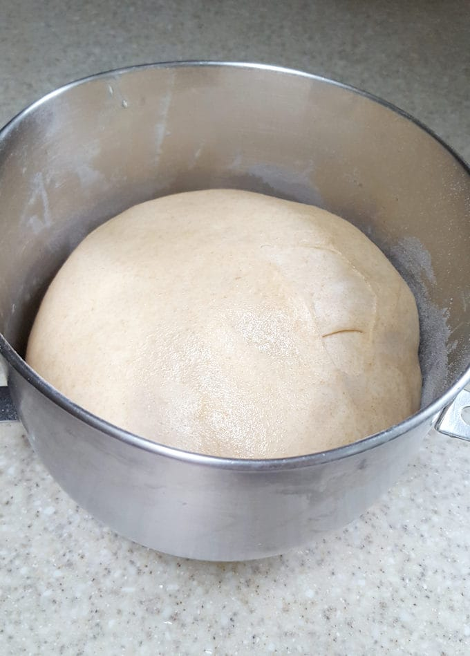 dough for milk & honey whole wheat burger bun