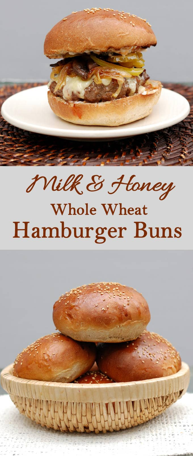 Super soft with a hint of honey sweetness - Milk & Honey Whole Wheat Hamburger Buns are a variation of my most popular bread recipe.