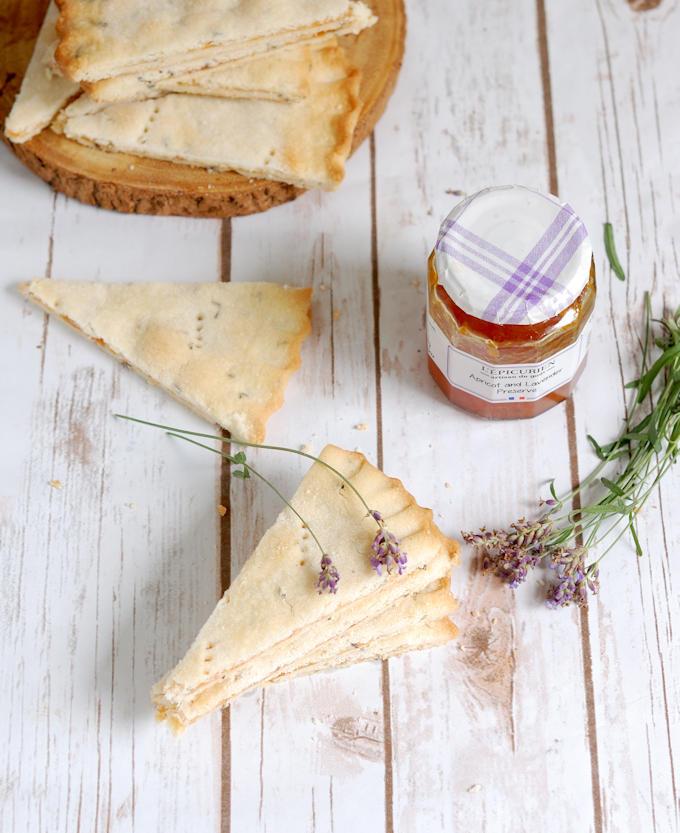 apricot lavender shortbread overview