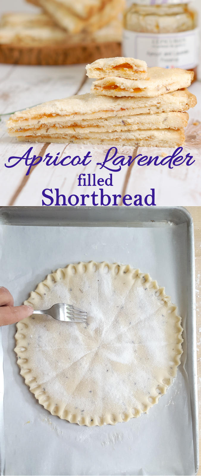 Apricot Lavender Shortbread is a great #Cookoutweek dessert. Easy to make ahead and it has perfectly summer flavors.