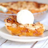Lattice Top Apricot Raspberry Pie
