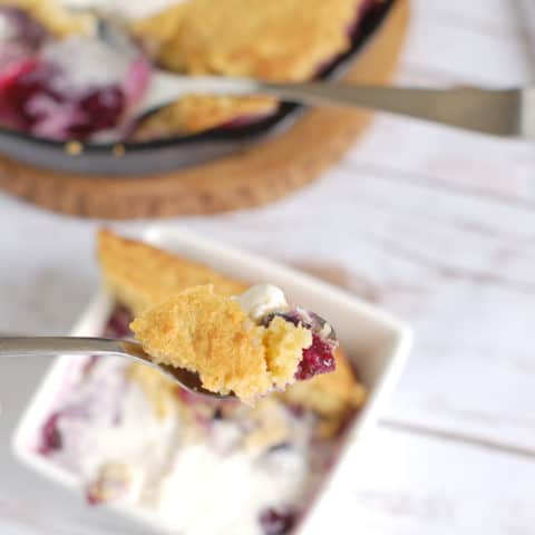 blueberry cornbread cobbler