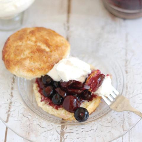 cherry blueberry shortcake