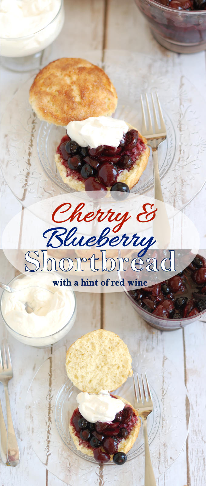 Celebrate the red, white & blue with luscious shortcakes with summer berries. #SundaySupper