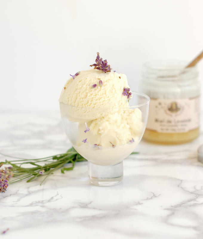 lavender honey ice cream