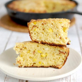 Smoked Corn Bread with Bacon and Chipotle Peppers