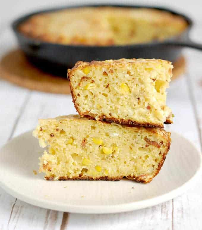 smoked cornbread with bacon