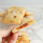 a cherry almond hand pie