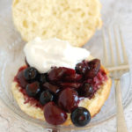 a cherry blueberry shortcake