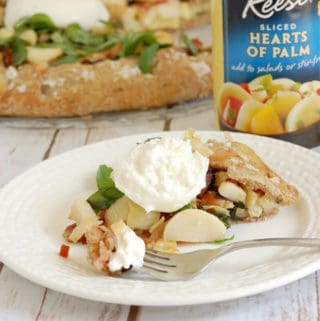 Hearts of Palm Galette in a Rye Crust – with Buratta & Balsamic Glaze