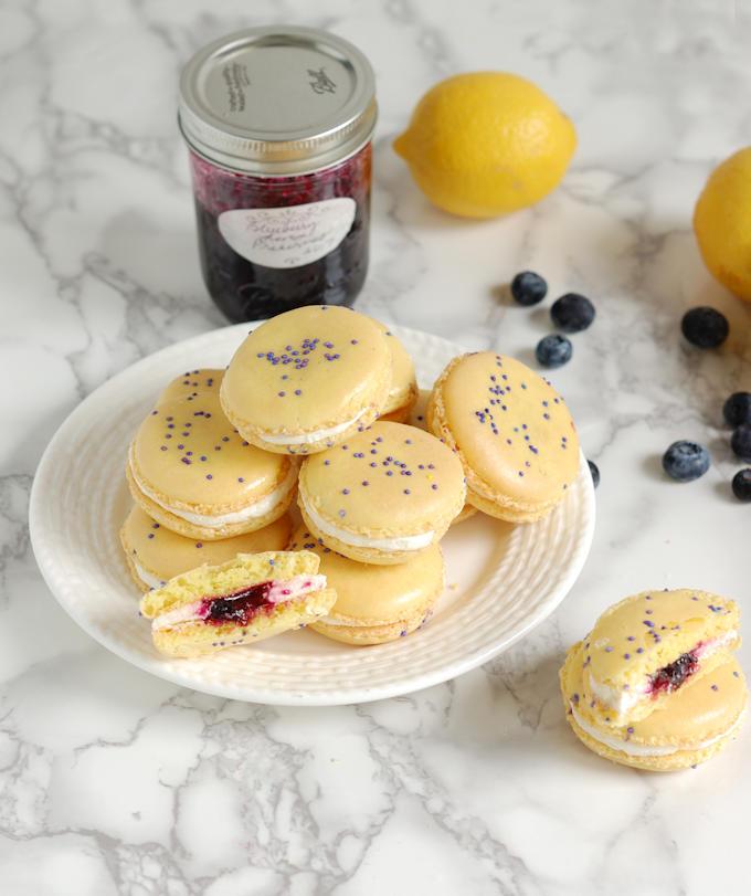 mon blueberry macarons 5