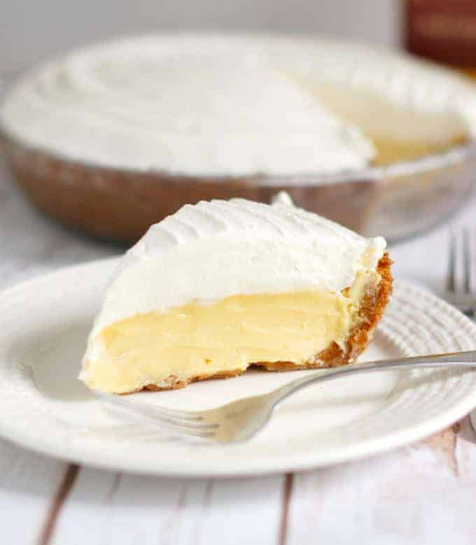 a slice of margarita pie