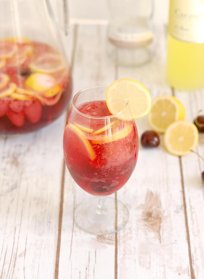 pink lemonade sangria