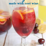 an image of pink lemonade sangria for pinterest with text overlay