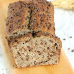 a loaf of buckwheat chocolate chip banana bread