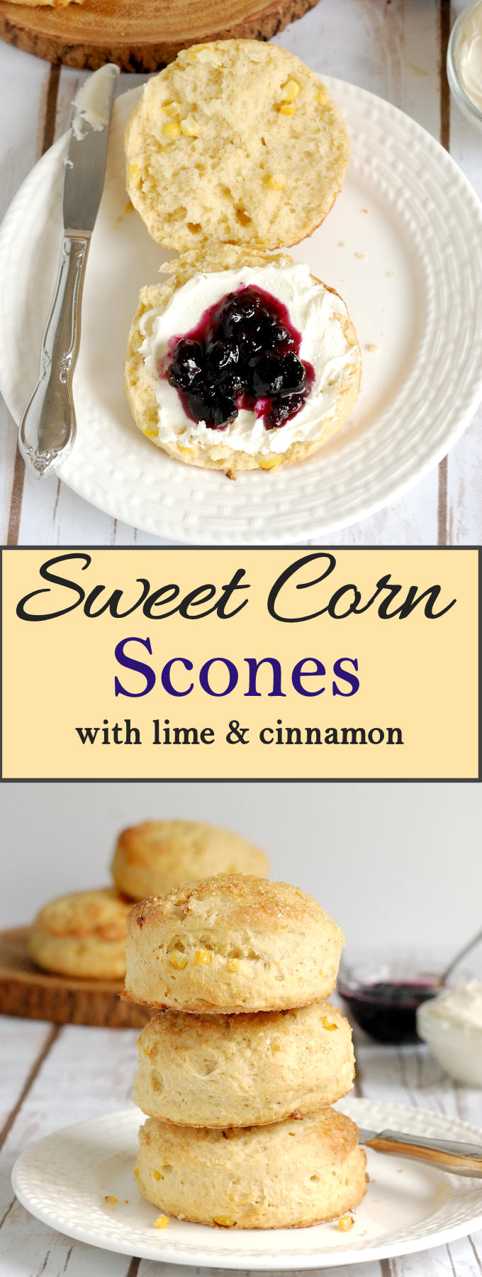 Make fresh corn scones with lime and cinnamon with summer corn for a special treat. Super easy recipe with lots of how to photos.