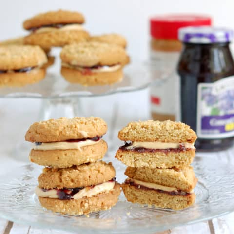 Peanut butter & jelly sandwich cookie