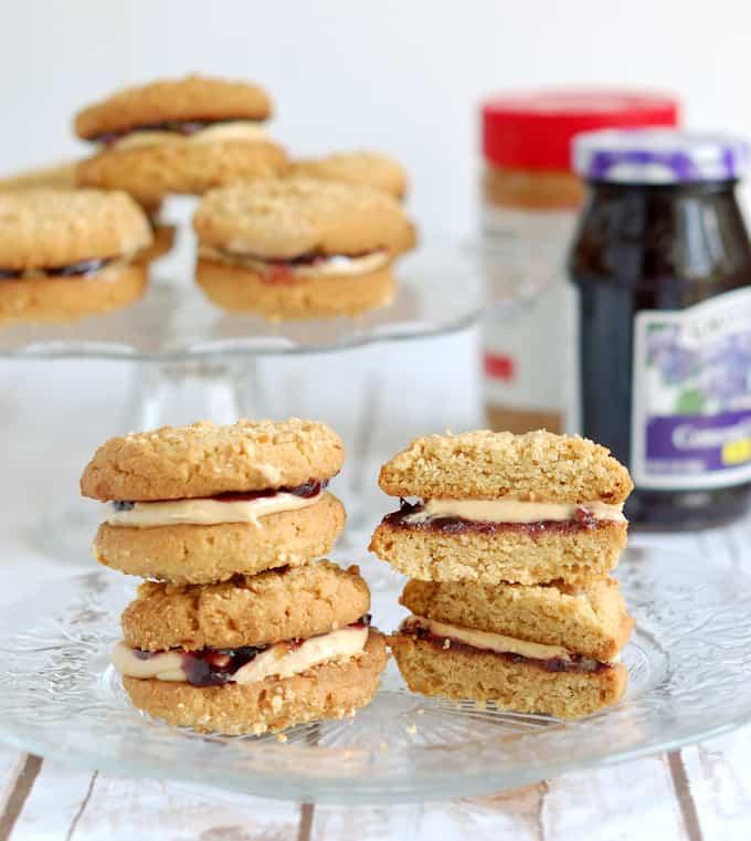 Peanut butter & jelly sandwich cookie