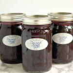 a pinterest image for concord grape jam with vanillla