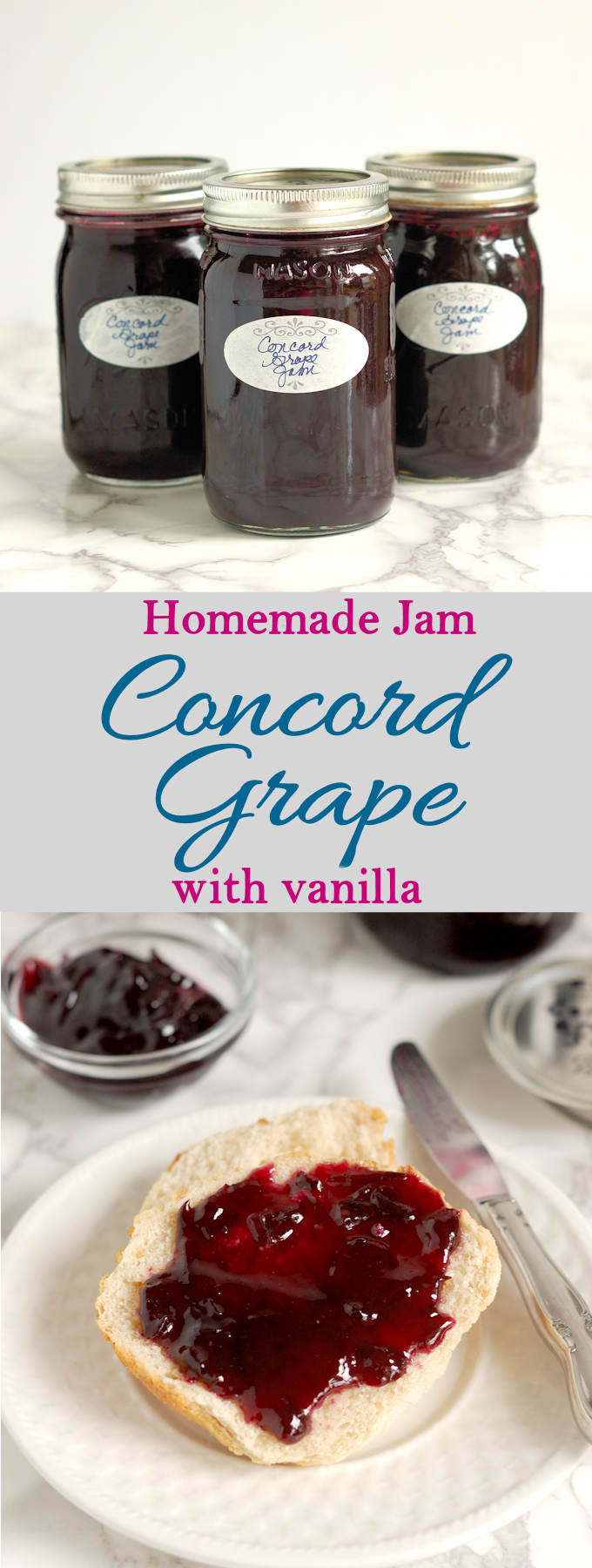 Home Canning is fun, easy and economical. Make Concord Grape Jam with Vanilla when fresh grapes are in season. Easy to follow recipe with lots of how-to photos
