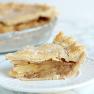 Glazed Maple Apple Pie