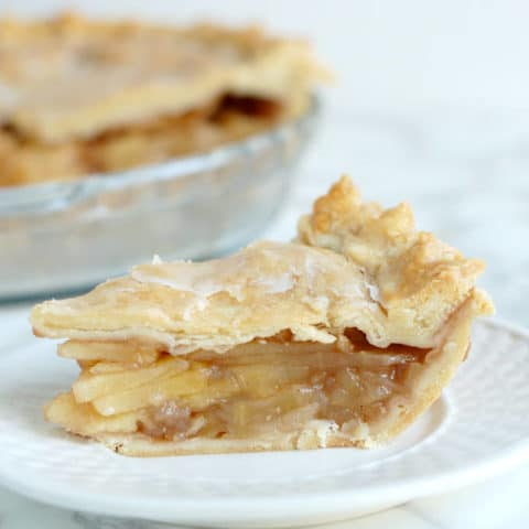 Maple Apple Pie with maple glaze