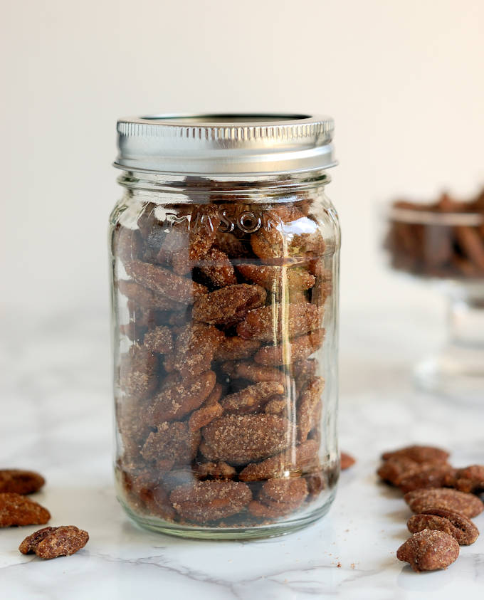 candied spiced pecans