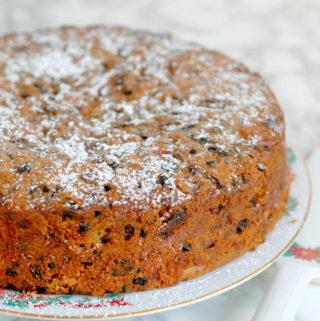 Brandy-Aged Fruitcake